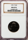 Washington Quarters, 1991-P 25C MS65 Proof Like PCGS. PCGS Population (49/111). NGCCensus: (10/42). Mintage: 570,968,000. Numismedia Wsl. Price...