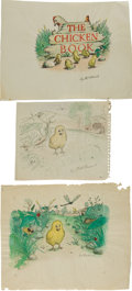 Art:Illustration Art - Mainstream, Garth Williams. Six Original Watercolor and Ink PreliminaryDrawings for The Chicken Book, 1946, including the p...(Total: 8 Items)
