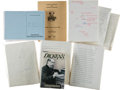 Books:Biography & Memoir, Charles Dickens [subject]. Peter Ackroyd. Manuscript and Related Materials for Dickens, including:... (Total: 5 Items)