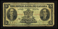 Canadian Currency: , Montreal, PQ- Royal Bank of Canada $5 Jan. 2, 1913 Ch. 630-12-04....