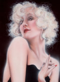 Pin-up and Glamour Art, PETER FROMME DOUGLAS (American, 20th Century). Sugar andSpice, circa 1983. Oil on canvas. 40 x 30 in.. Signed lowerlef...
