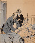 Mainstream Illustration, TONY SARG (American, 1880-1942). Stomach Pain. Gouache andink on board. 16 x 13 in.. Signed lower right. From the E...