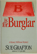 "Books:Mystery & Detective Fiction, Sue Grafton. ""B"" is for Burglar. New York: Holt, Rinehartand Winston [1985]. First edition, first printing. Octavo...."