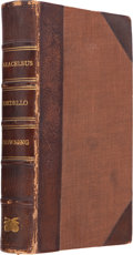 Books:Literature Pre-1900, Robert Browning. Paracelsus. London: Published by EffinghamWilson, 1835. First edition of Browning's second sep...