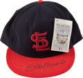 Baseball Collectibles:Hats, Stan Musial Signed St. Louis Cardinals Cap....