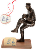 Baseball Collectibles:Hartland Statues, Nolan Ryan Signed Southland Figurines Lot of 4. ...