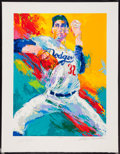 Baseball Collectibles:Others, Sandy Koufax Serigraph by LeRoy Neiman, Signed by Both. ...