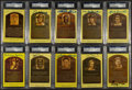 Baseball Collectibles:Others, Baseball Greats Signed Hall of Fame Plaque Postcards Lot of 10....