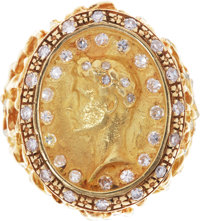 Elvis Presley's Gold and Diamond Cameo Ring