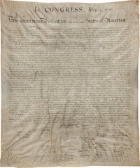 Declaration of Independence, Engraved and Printed by William Stone