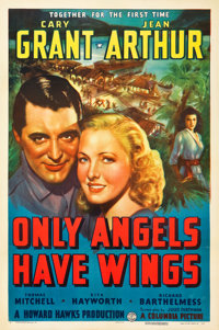 "Only Angels Have Wings (Columbia, 1939). One Sheet (27"" X 41"") Style A"