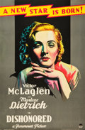 "Movie Posters:Drama, Dishonored (Paramount, 1931). One Sheet (26"" X 40"") Style B.. ..."