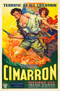 "Cimarron (RKO, 1931). One Sheet (27"" X 41"")"