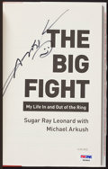 "Boxing Collectibles:Autographs, Sugar Ray Leonard Signed ""The Big Fight"" Hardcover Book. ..."