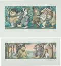 Books:Prints & Leaves, Maurice Sendak. Where the Wild Things Are (Prints). [N.p.,1971]. Complete set of four art prints, each printed ... (Total: 4Items)