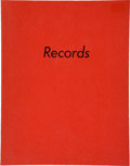 Books:Photography, Edward Ruscha. Records. [Hollywood]: Ed Ruscha, 1971. Firstedition. Small octavo. [31], leaves. With photographs by...
