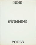Books:Photography, Edward Ruscha. Nine Swimming Pools and a Broken Glass.[California]: Edward Ruscha, 1968. First edition. Small o...