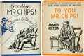 Books:Literature 1900-up, James Hilton. Two Mr. Chips First Editions, including: GoodbyeMr. Chips! London: Hodder & Stoughton, 1934. ... (Total: 2Items)