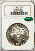 Morgan Dollars: , 1885 $1 MS66 Prooflike NGC. CAC. NGC Census: (39/4). PCGS Population (45/2). Numismedia Wsl. Price for problem free NGC/PC...