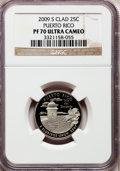 Proof Statehood Quarters, 2009-S 25C Puerto Rico Clad PR70 Ultra Cameo NGC. NGC Census: (0).PCGS Population (449). Numismedia Wsl. Price for proble...