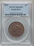 Large Cents, 1819 1C Small Date MS62 Brown PCGS. N-9, R.1....