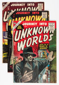 Golden Age (1938-1955):Horror, Journey Into Unknown Worlds #39, 54, and 58 Group (Atlas, 1955-57)Condition: Average FN.... (Total: 3 Comic Books)