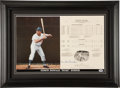 Baseball Collectibles:Others, Duke Snider Signed Oversized Print....