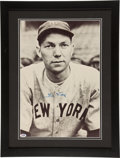 Baseball Collectibles:Photos, Bill Dickey Signed Oversized Photograph....
