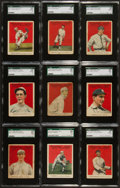 Baseball Cards:Lots, 1915 E145-2 Cracker Jack SGC-Graded Collection (9). ...