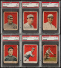 Baseball Cards:Lots, 1915 E145-2 Cracker Jack PSA-Graded Collection (6). ...