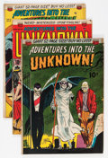 Silver Age (1956-1969):Horror, Adventures Into The Unknown Group (ACG, 1951-54) Condition: AverageVG+.... (Total: 5 Comic Books)