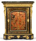 Furniture : French, A FRENCH EBONIZED CABINET WITH BOULLE INLAY AND GILT BRONZE MOUNTS. Circa 1870 and later . Marks: stamped BG to top . 5...