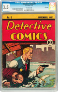 Golden Age (1938-1955):Superhero, Detective Comics #9 Billy Wright pedigree (DC, 1937) CGC VG- 3.5 Off-white pages....