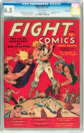 Golden Age (1938-1955):Miscellaneous, Fight Comics #1 Billy Wright pedigree (Fiction House, 1940) CGC FN+ 6.5 Off-white pages....