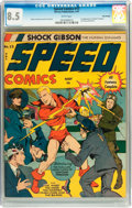 Golden Age (1938-1955):Superhero, Speed Comics #13 Billy Wright pedigree (Harvey, 1941) CGC VF+ 8.5 White pages....