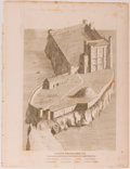 """Books:Prints & Leaves, Lot of Four Antique Engraved Prints of Early English Forts. 8.25"""" x10.5"""". From Military Antiquities Respecting a History ...(Total: 4 Items)"""