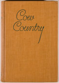 Books:Americana & American History, Edward Everett Dale. Cow Country. Norman: University ofOklahoma Press, 1942. First edition. Octavo. 265 pages. ...