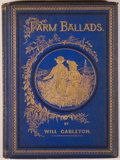 Books:Literature Pre-1900, Will Carleton. Farm Ballads. New York: Harper &Brothers, 1873. First edition. Octavo. 108 pages. Publisher's bl...