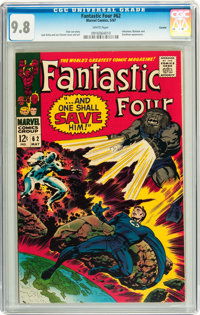 Fantastic Four #62 Curator pedigree (Marvel, 1967) CGC NM/MT 9.8 White pages