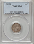Barber Dimes: , 1909-D 10C XF40 PCGS. PCGS Population (7/114). NGC Census: (2/78).Mintage: 954,000. Numismedia Wsl. Price for problem free...