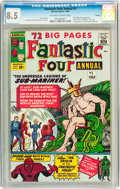 Silver Age (1956-1969):Superhero, Fantastic Four Annual #1 Curator pedigree (Marvel, 1963) CGC VF+ 8.5 Off-white to white pages....