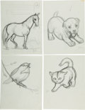 Art:Illustration Art - Mainstream, Garth Williams. Ten Original Preliminary Drawings Prepared forBaby's First Book, 1955. Ten sheets measuring 11 ... (Total:10 Items)