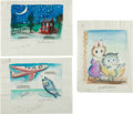 Art:Illustration Art - Mainstream, Garth Williams. Three Original Watercolor Paintings Prepared forBaby's First Book, 1955. Three sheets measuring... (Total: 3Items)