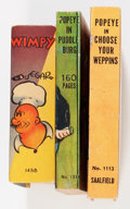 Big Little Book:Miscellaneous, Big Little Book Popeye Group (Whitman, 1930s) Condition: AverageVF.... (Total: 3 Comic Books)