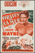 """Movie Posters:Action, The Sea Spoilers (Century, R-1953). Belgian (14"""" X 21.5""""). Action.. ..."""