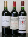 Red Bordeaux, Chateau Calon Segur . 1999 St. Estephe Bottle (1). ChateauCharmail . 2005 Haut Medoc lbsl Bottle (1). ... (Total: 3Btls. )