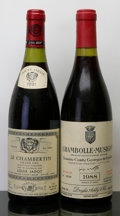 Red Burgundy, Chambolle Musigny . 1988 Comte de Vogue #00093 Bottle (1).Chambertin . 1991 L. Jadot Bottle (1). ... (Total: 2 Btls. )