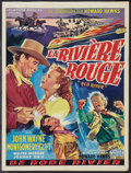 """Movie Posters:Western, Red River (United Artists, 1948). Belgian (14.25"""" X 19""""). Western.. ..."""