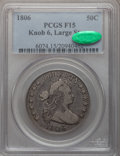Early Half Dollars: , 1806 50C Knobbed 6, Large Stars Fine 15 PCGS. CAC. PCGS Population(12/78). Numismedia Wsl. Price for p...