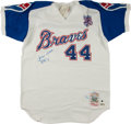 Baseball Collectibles:Others, Hank Aaron Signed Atlanta Braves Jersey and Single SignedBaseball....